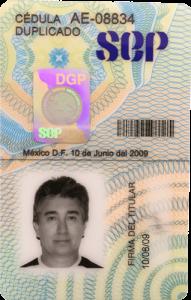 Sergio Soberanes Cedula